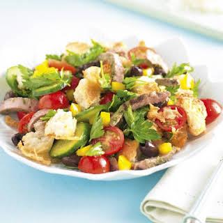 Pesto Lamb and Bread Salad.