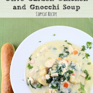 Copycat Olive Garden Chicken and Gnocchi Soup.