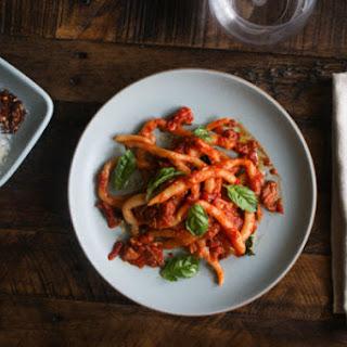 Hand Rolled Pasta (Pici) with Neopolitan Ragu.