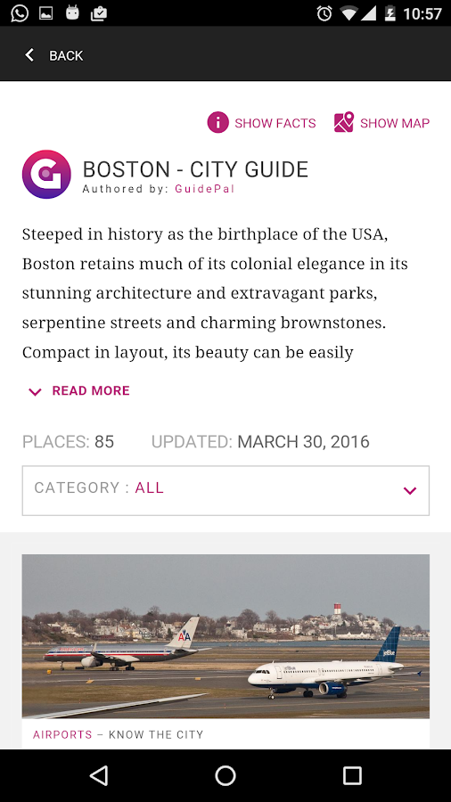 Boston City Guide- screenshot