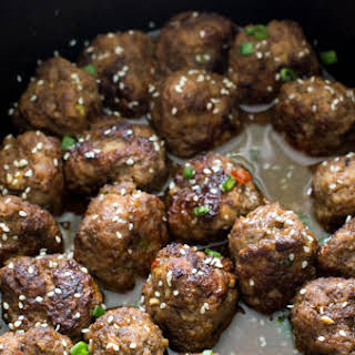 Slow Cooker Asian Sesame Meatballs.