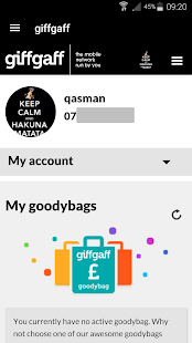 giffgaff app- screenshot thumbnail