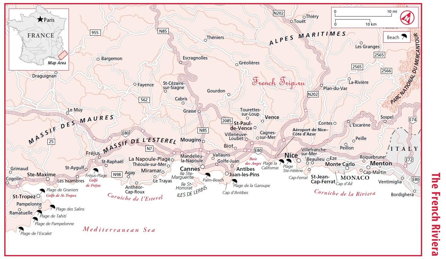 Сен-Тропе (Saint-Tropez), Лазурный берег Франции - путеводитель по городу