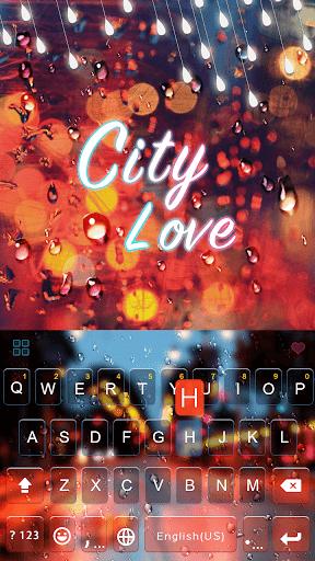 City Love Emoji Keyboard Theme