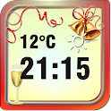 New Year Weather Clock icon