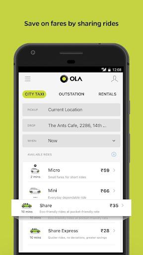 Ola Lite: Lighter Faster Ola App. Book Taxi & Cabs Apk apps 2