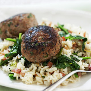 Turkey Patties with Spinach Rice.