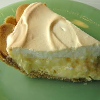 Lemon Meringue Pie With Cookie Crumb Crust.