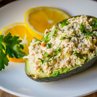 Salmon Stuffed Avocados