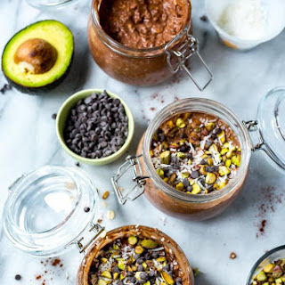 Chocolate Avocado Overnight Oats.