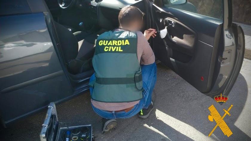 Vehículo que se intentó sustraer en Campohermoso.