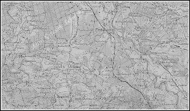 Photo: Fragment austro-węgierskiej wojskowej mapy topograficznej z Rudnikiem i okolicami. Wg pomiarów kartograficznych z lat 1897-1899, wydanie mapy - rok 1910.