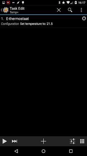 E-thermostaat voor Tasker