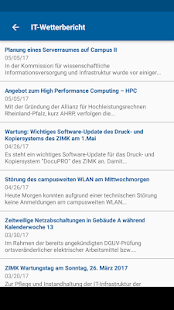 CampusApp Universität Trier – Miniaturansicht des Screenshots
