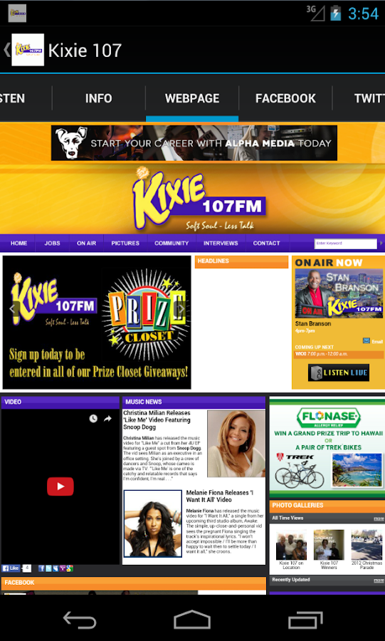 Kixie 107- screenshot