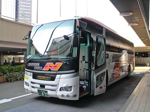 南海バス「サザンクロス」酒田線 ・477 なんば高速バスターミナル到着
