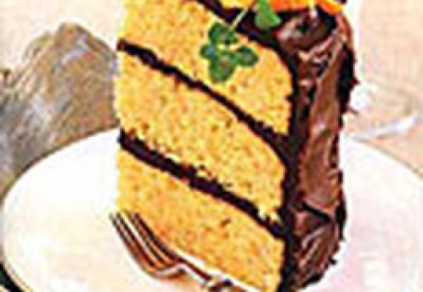 Orange-almond Cake With Chocolate Icing Recipe
