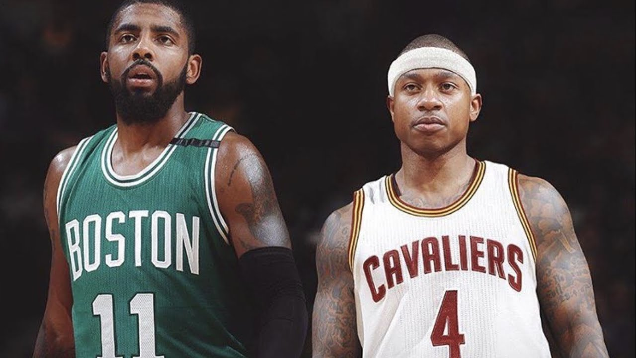 Image result for Kyrie Irving Isaiah Thomas in their new uniforms