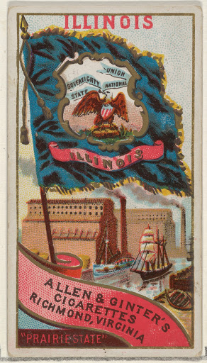 Illinois, from Flags of the States and Territories (N11) for Allen & Ginter Cigarettes Brands