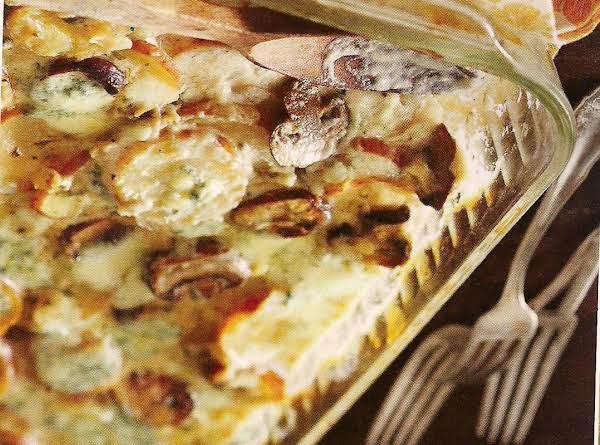 Mushroom And Blue Cheese Potatoes Au Gratin