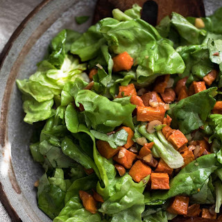 Roasted Sweet Potato Salad with Butter-Hazelnut Dressing Recipe