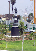 Photo: model of Faro de la Marina, Miraflores at entrance to Callao port