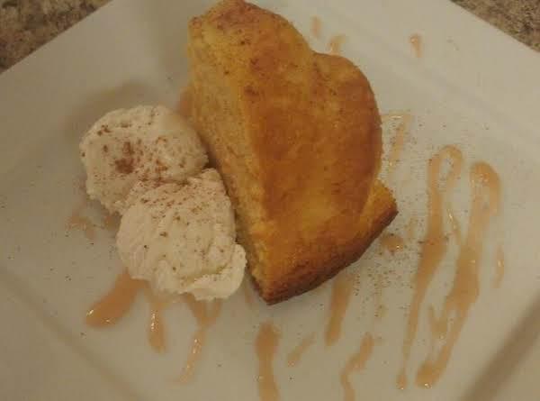 Peach Cobbler Cake W/ Butter Rum Glaze