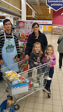 Photo: Buying food for charity.