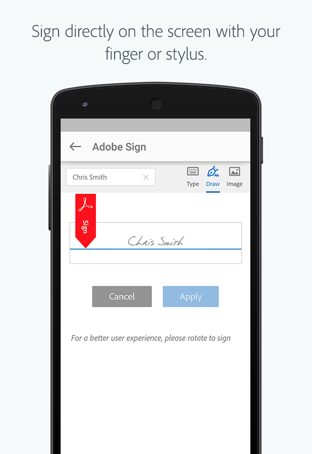 Adobe Sign- screenshot