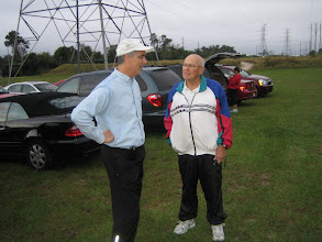 Photo: President Joe and President-Elect Blaine Timmer - November 1, 2008 at the Second Annual Rotary Club of DeBary-Deltona River City Run at Memorial Park in DeBary