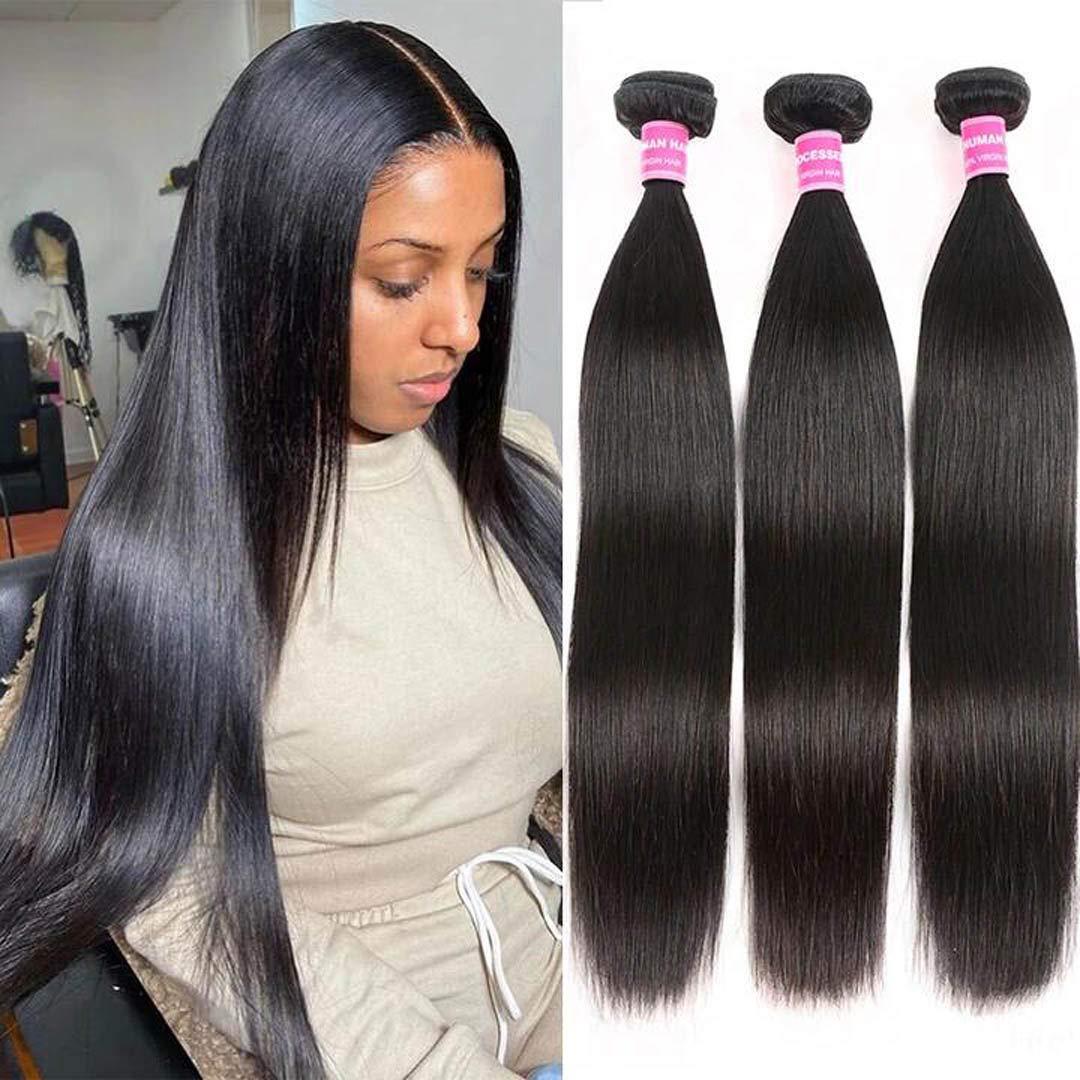 Sleek straight Malaysian hair bundles