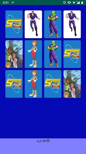 تحدي الذاكرة مع شخصيات سبيستون screenshot 3
