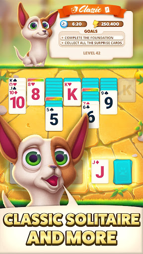 Solitaire Pets Adventure -  Classic Card Game cheat screenshots 1