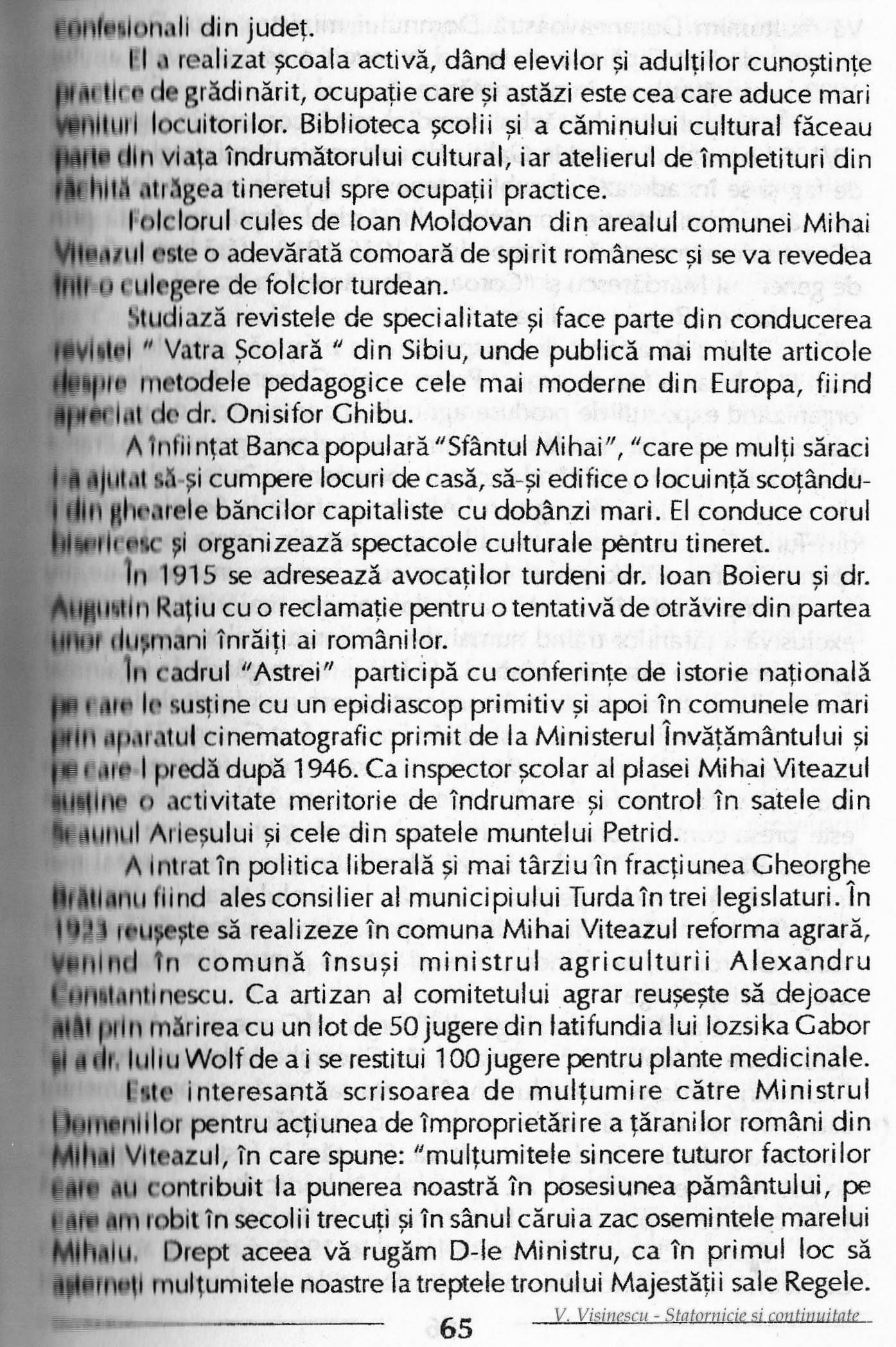 """Photo: 65 - Culegator de folclor. Scriitor. A infiintat banca populara """"Sfantul Mihail"""". Membru al """"Astrei"""". Consilier liberal al Municipiului Turda in trei legislaturi"""