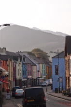 Photo: Snowdon peeking over the ridge from town.