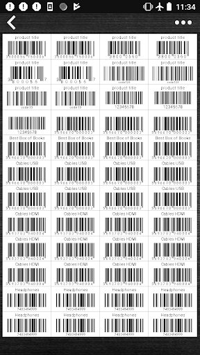 Barcode Maker PDF (generate barcodes & export PDF) screenshot 1