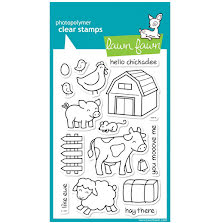 Lawn Fawn Clear Stamps 4X6 - Critters On The Farm