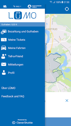 LÜMO: Lübecks on-demand Shuttle - screenshot