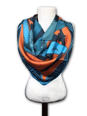 Laté 21 foulard soie made in france Barnstormer latécoère hydravion