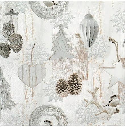 Servetter - White decorations