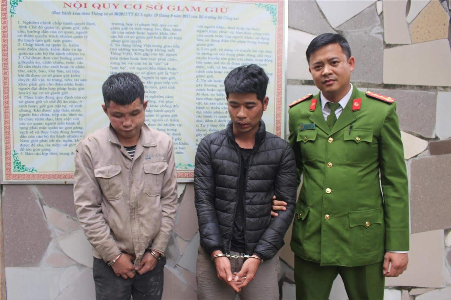Công an huyện Nghi Lộc bắt giữ 2 đối tượng thực hiện              hành vi trộm chó