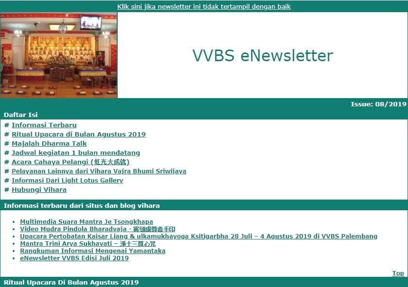 Newsletter Agustus 2019