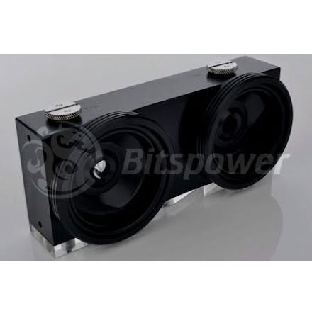 Bitspower Dual D5 / MCP655 pumpetopp, sort