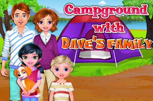 Daveの家族とキャンプ場