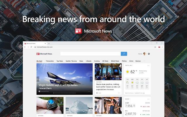 Microsoft News for Chrome