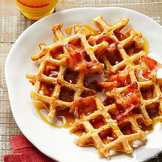Mini Bacon Waffles.