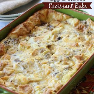 Sausage, Egg, & Cheese Croissant Bake