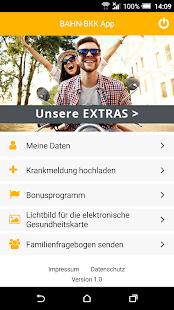 BAHN-BKK App - náhled