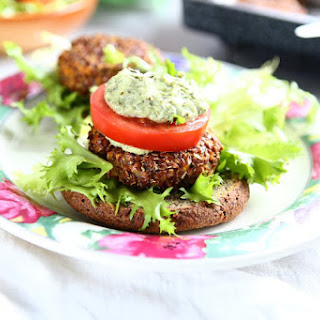 Linseed Sweet Potato Burgers