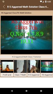 R S Aggarwal Math Solution Class 6 - 7 - 8 - 9 -10 – Apps bei Google ...